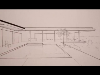 How to Draw a Modern House- Time Lapse