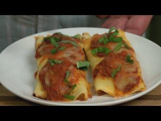 Каннеллони с сыром Рикотто и шпинатом.  Рецепт итальянской кухни