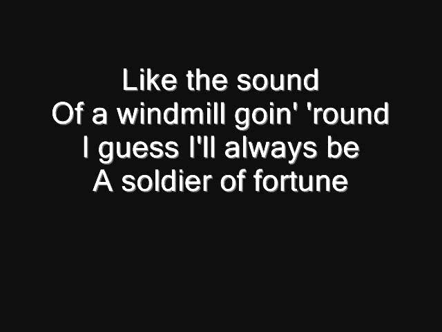 Deep Purple - Soldier of Fortune Lyrics