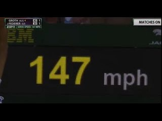 Fastest Serve of the Tournament (147 mph) ● Roger Federer vs Sam Groth ● Wimbledon 2015 | HD