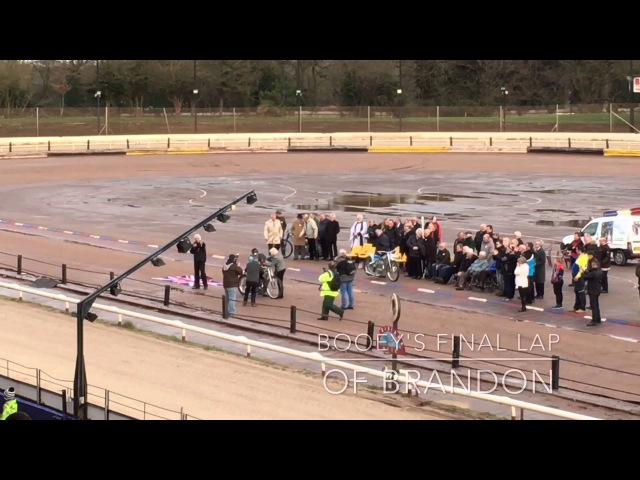 Nigel Boocock 1937 2015 Committal of ashes at Coventry Speedway