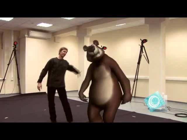 Как снимали мультфильм Маша и Медведь. )