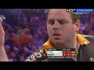 Adrian Lewis vs Peter Wright (PDC World Darts Championship 2016 / Quarter Final)