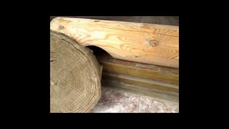 Чем проложить сруб дома, бани из бруса. Видео урок