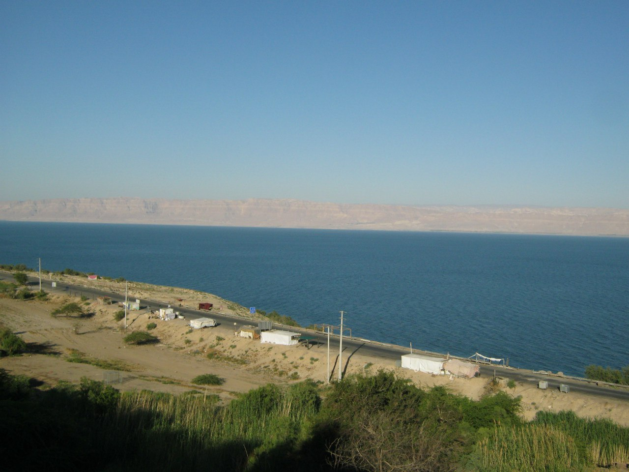 Вид на мёртвое море и израиль