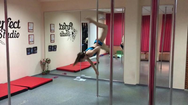 Юляша Шепшук-Антипова. Pole dance. Perfect studio: Интересный переход