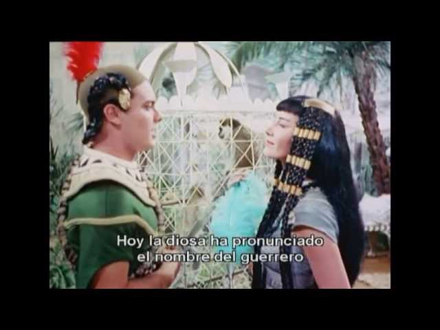 Аида, фильм-опера, 1953г. - Фрагмент 1-го акта. Рамфис, Радамес, Амнерис, Аида