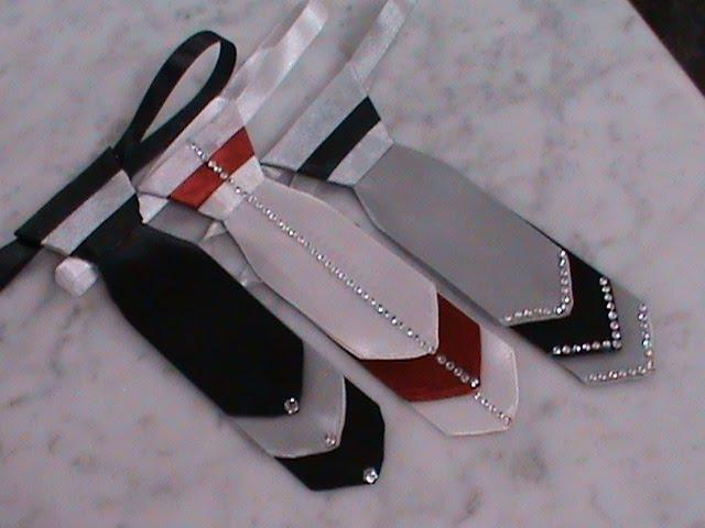 Нарядный галстук к празднику в стиле канзаши для наших мальчишек