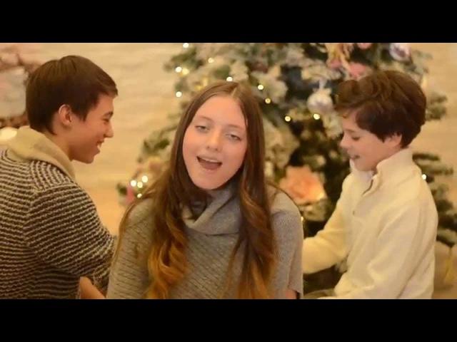 HD Новогодняя - Полина Пузанкова, Александр Лазин, Кирилл Скрипник (cover, дуэт Сотканные Небом)