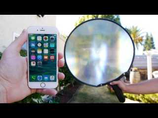 What Does a Giant Magnifying Glass Do To an iPhone 6S