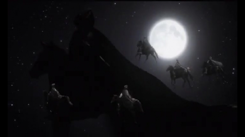 Полет на адских конях Отрывок из к ф Мастер и Маргарита 2005