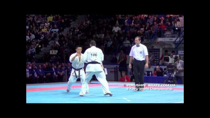 2 KWU WC Final -70 Toshihide Iwasawa (Japan, aka) - Georgi Lotarov (Bulgaria)