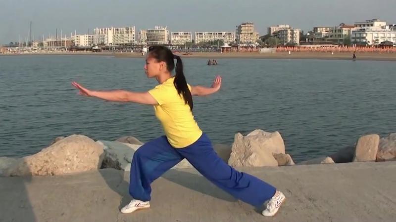WUSHU TUTORIAL Front Sweep Kick 900° by Jade Xu