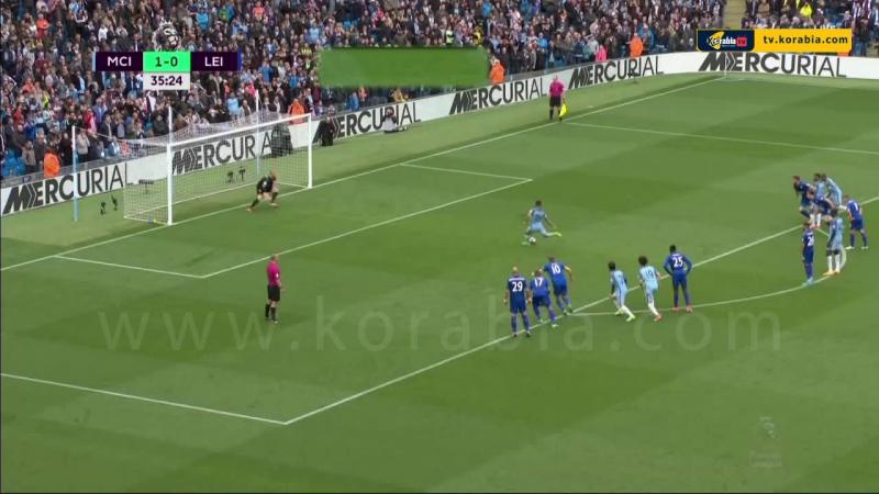 أهداف مباراة مانشسترسيتي 2 1 ليسترسيتي الدوري الانجليزي