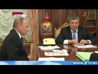 ПутинВ.В. учит основам работы Вице-губернатора Санкт-Петербурга Игорь Албина