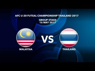 #AFCU20FC THAILAND 2017 - M09 Malaysia vs Thailand - Highlights