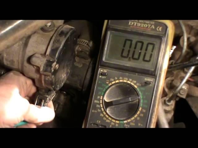 Датчик Холла проверка при помощи мультиметра.