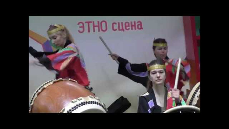 Ансамбль японских барабанов Мияби Барабаны острова Хатидзё @ Парк Красная Пр