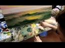 А.Южаков Морской пейзаж .Рассвет Урок живописи маслом для начинающих
