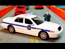 Видео для детей Полицейская Машина и Пожарная Машина Авария в Городке 2D Мультик