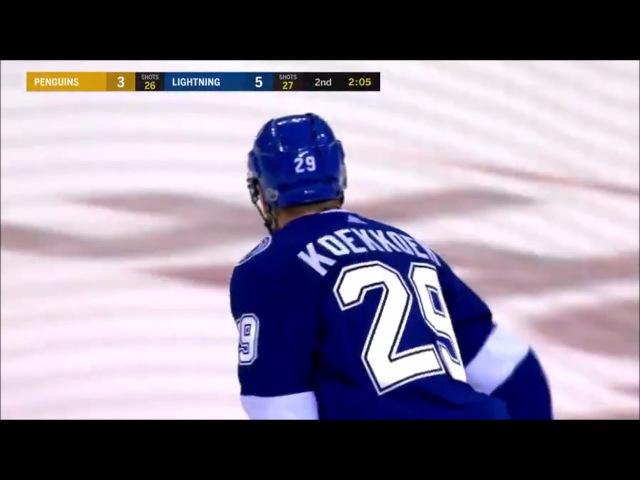 Pittsburgh Penguins at Tampa Bay Lightning 10 12 17 Slater Koekkoek GOAL 2