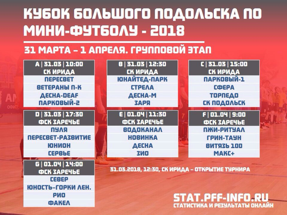 Превью к первому игровому дню Кубка Большого Подольска по мини-футболу