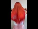 наращивание волос.рыжули.парикмахер Лопит Диана