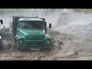 Мощный ливневый паводок после градового шторма в Акушинском и Левашинском районах Дагестана.