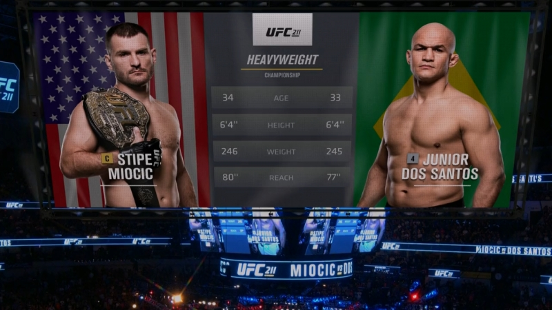 UFC 220 Free Fight - Stipe Miocic vs Junior Dos Santos (Реванш)