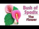 Macrame tutorial - 3D Bush of spadix part 1 - The flower - H