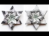COOL Money STAR Origami Modules Dollar Tutorial DIY Folding No glue and tape