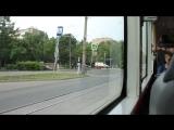 Поездка на трамвае Vario LF по маршруту 47