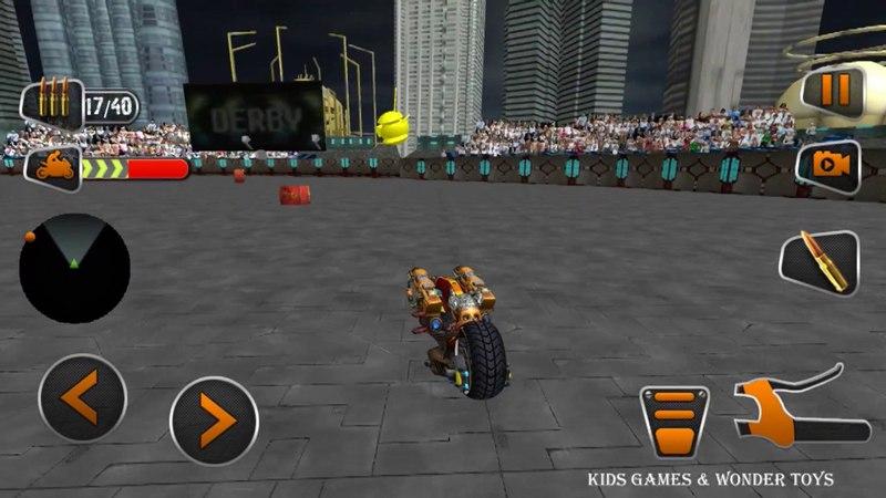 Demolition Derby|Future Bike Wars|bike wars simulator|attack motorbike rivals|derby robot bike HD6