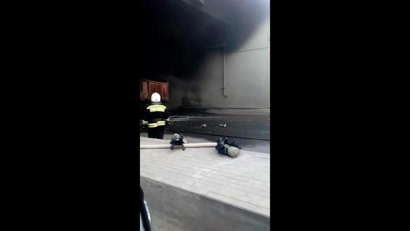 Пожар в туннеле Уфа сгорел грузовик