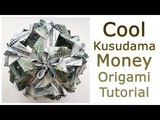 Cool Money KUSUDAMA Origami Dollar Modules Tutorial DIY Folded No glue and tape