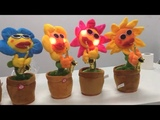 Singing and Dancing Flower Enchanting Sunflower with Saxophone Soft Plush