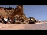 Скала обрушилась на пляж с людьми под Туапсе_19-08-18
