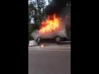 На трассе сгорела Газель