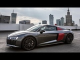 UNIQUELY SPECCED! - 2018 AUDI R8 V10 Plus Exclusive (605hp) - Daytona gray + red side blades!