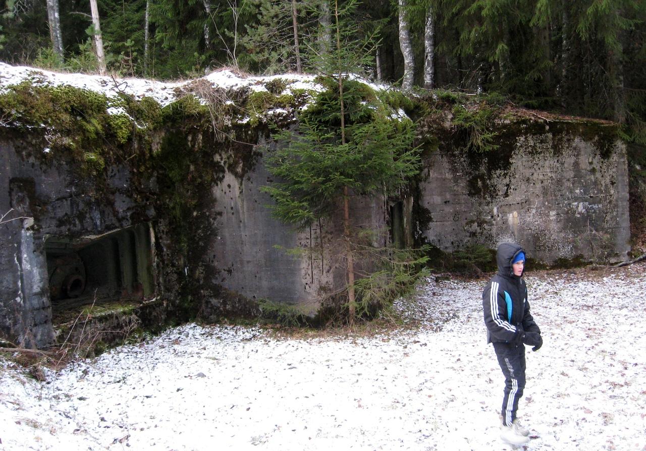 Поход по Карельскому Укрепрайону. Возле Медного и Сарженского озер, а также остановки