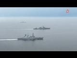 Опубликованы кадры прохода российских боевых кораблей по Ла-Маншу