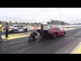 The New Plan B twin turbo Corvette vs Boosted Ego at No Prep Kings 2 Topeka kans