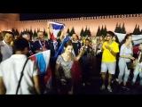 Победители чемпионата мира по футболу 2018. Французы на Красной площади.