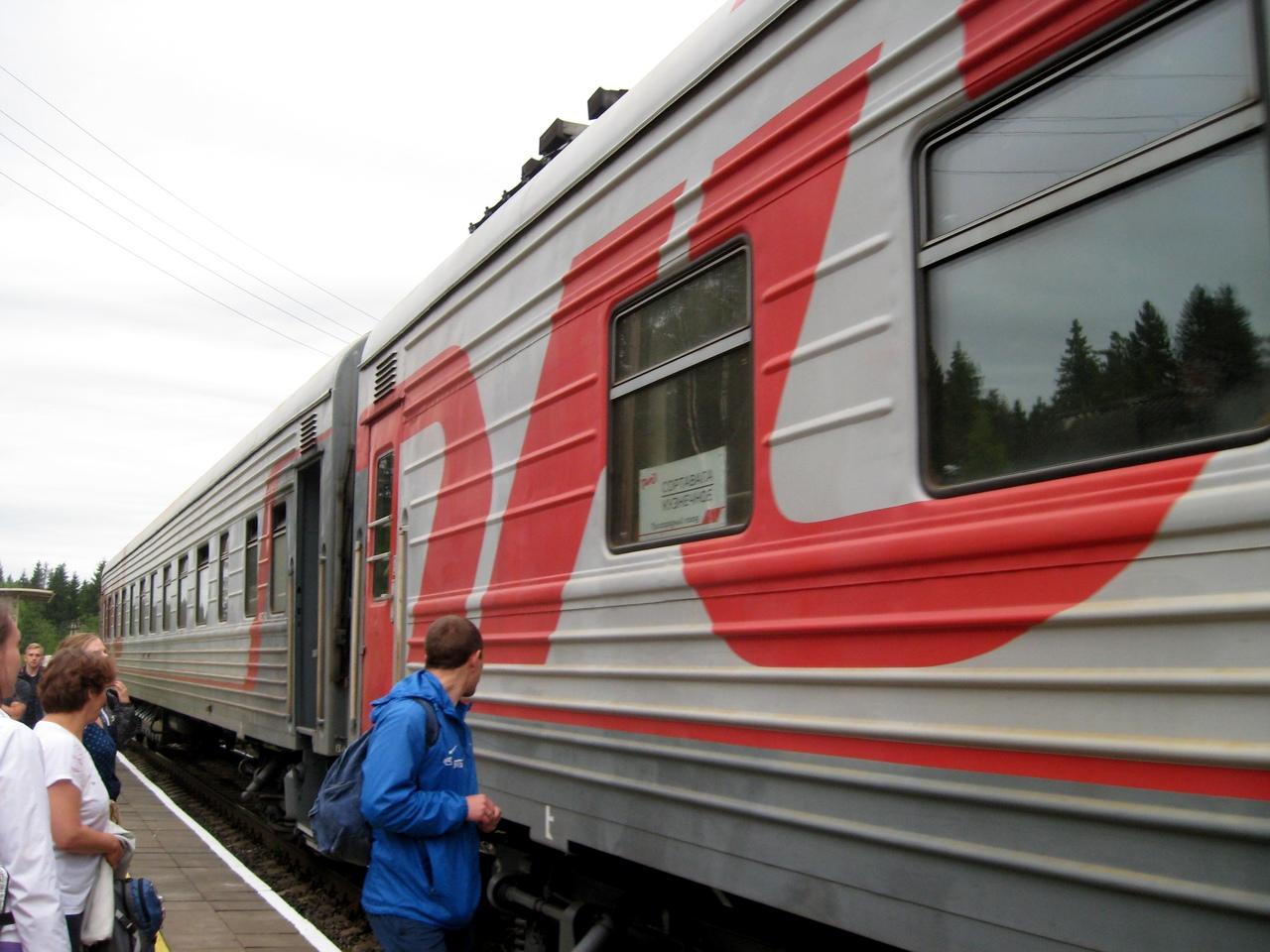 Кузнечное - Сортавала. Самый серьезный поезд Ленинградской области