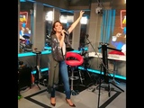 Natalia Oreiro in radio Avto singing United by love - Moscow - 6.6.2018