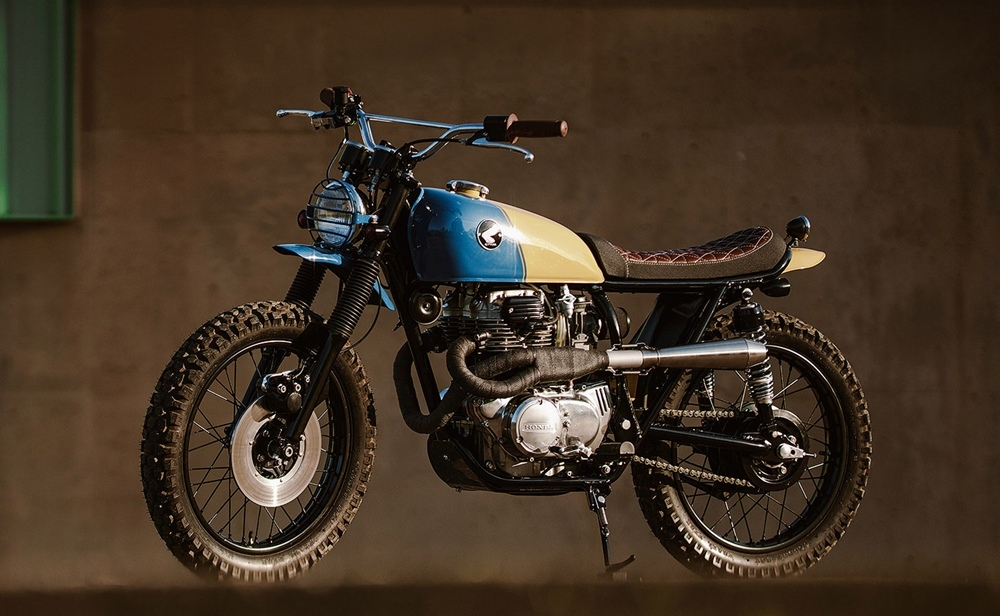 Brick House Builds: скрэмблер Honda CB360 Tuna
