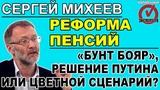 Сергей Михеев повышение пенсионного возраста, кто продвигает его