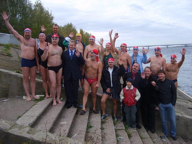 Заплыв в честь Всемирного Дня Сердца 2007