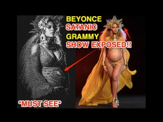 BEYONCE'S 59TH GRAMMY SATANIC ILLUMINATI PERFORMANCE EXPOSED *MUST SEE*