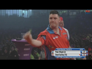 Peter Wright vs Daryl Gurney (European Darts Grand Prix 2017 / Round 3)